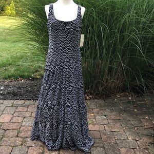 Evan Picone black and white polka dot dress